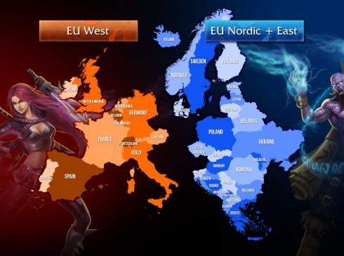 Így osztották fel országok szerint a két régiót.